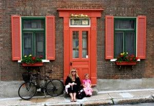 vieux quebec, quebec city with baby, family travel quebec city