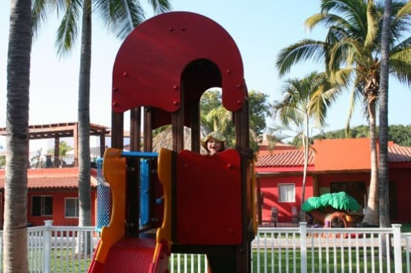 resorts with baby clubs, mexico for babies and toddlers, mexico for babies, mexico resorts with baby club, club med ixtapa pacific, play structure, kids club, baby club med