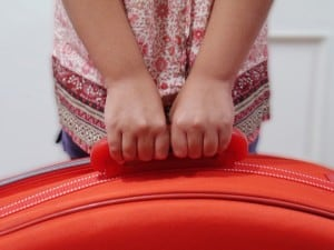 girl and suitcase...