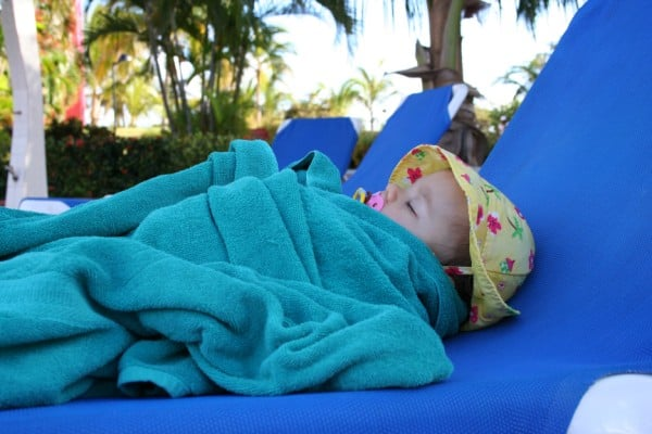 Image result for baby sleeping by the pool