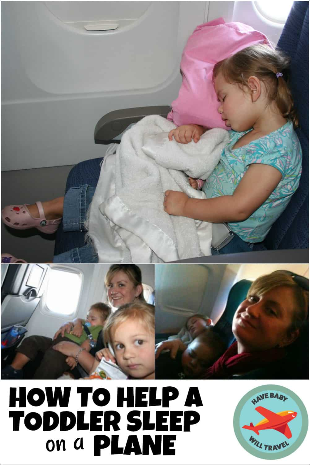 How to help a toddler sleep on a plane