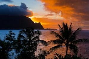 Hawaii Sunset, Hawaiian Islands, Sunset