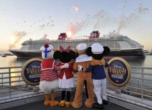 The Disney Fantasy Arrives At Port Canaveral...