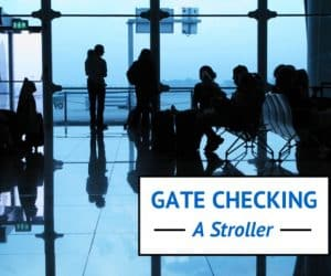 gate checking a stroller