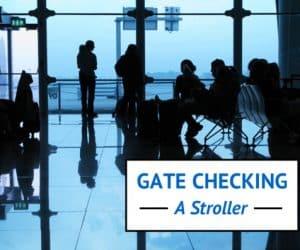 gate checking a stroller