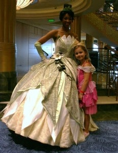 disney fantasy, meet princesses, tiana, princess tiana, disney cruise