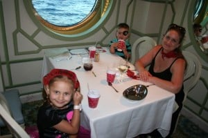 Enchanted Garden, Disney Dining, Disney Fantasy, Pirate Dinner