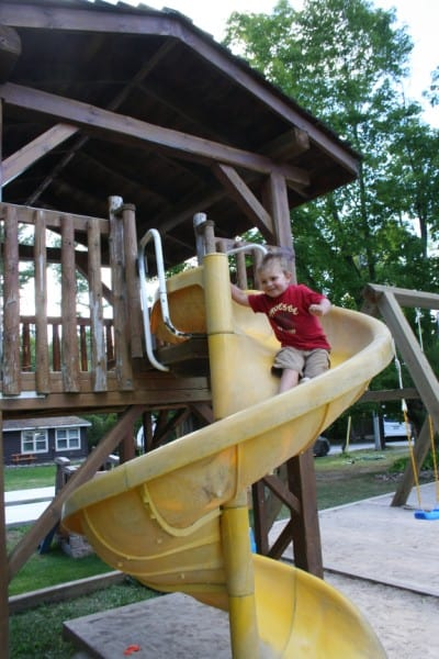 Irwin Inn Playground Slide