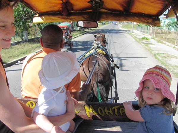 cuba with baby, cuba with toddler, cuba horse and carriage ride