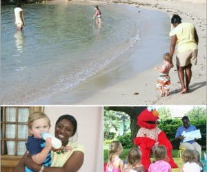 Tips for finding a vacation babysitter or holiday child care.
