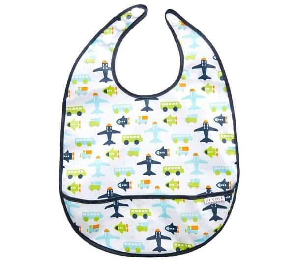 baby travel gear, wipeable bib