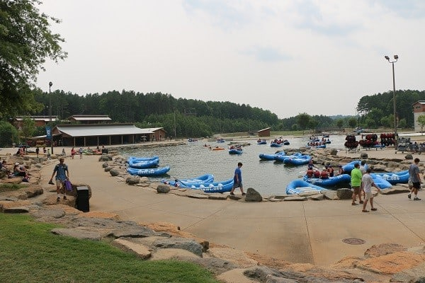 charlotte with kids, whitewater center with kids, charlotte north carolina with kids