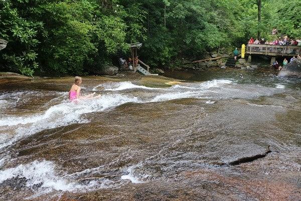 pisgah, brevard, transylvania county, waterfalls brevard, slippery rock, slippery rock north carolina