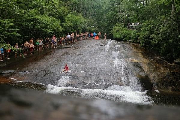 pisgah, brevard, transylvania county, waterfalls brevard, slippery rock, slippery rock brevard, slippery rock north carolina