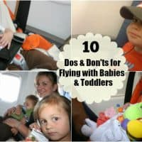 10 Dos & Don'ts for Flying with Babies and Toddlers