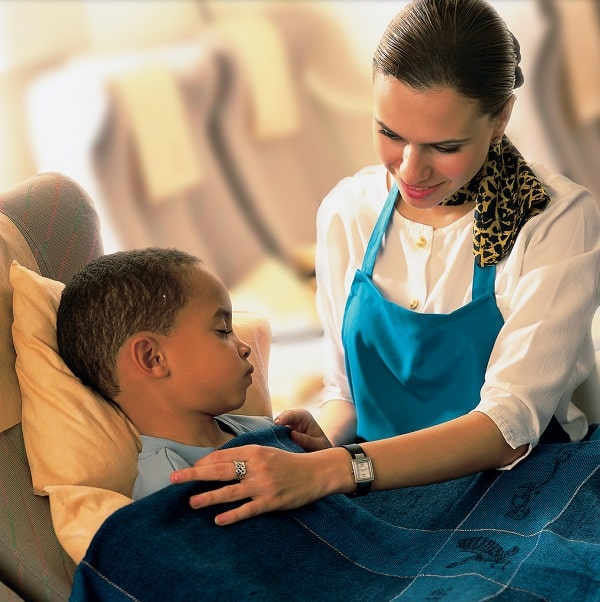 best airlines for families, gulf air with baby, sky nanny