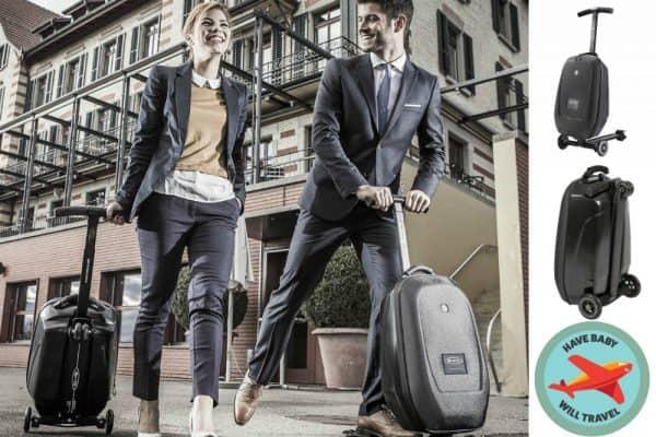 stroller alternative, ride on suitcase, suitcase scooter, stroller alternative
