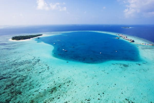 Starting Maldives family holiday with a view from the seaplane - exploring Maldives with kids