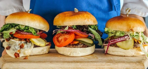 Burgers from Viamede Resort's The Boathouse