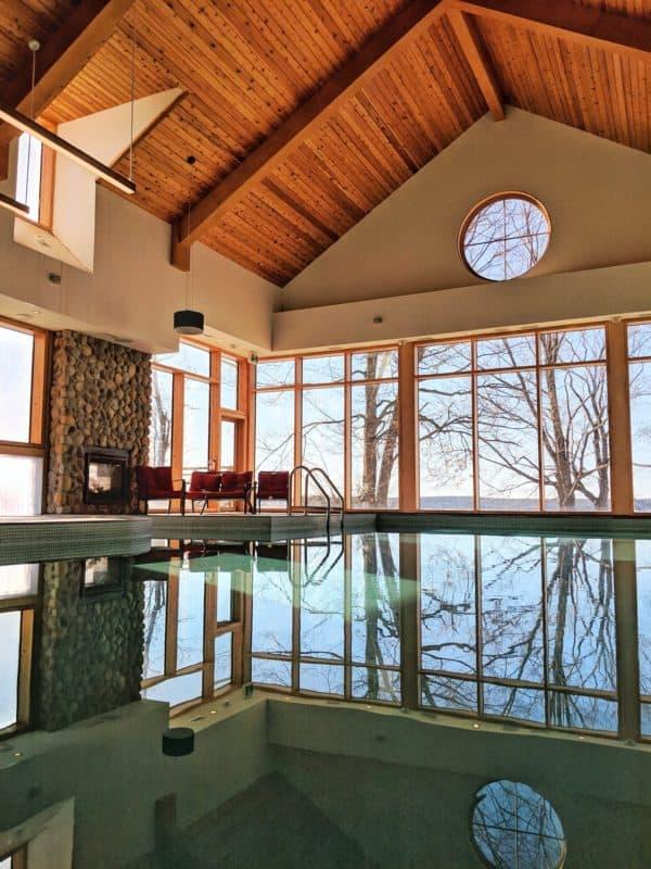 The indoor pool at Viamede Resort
